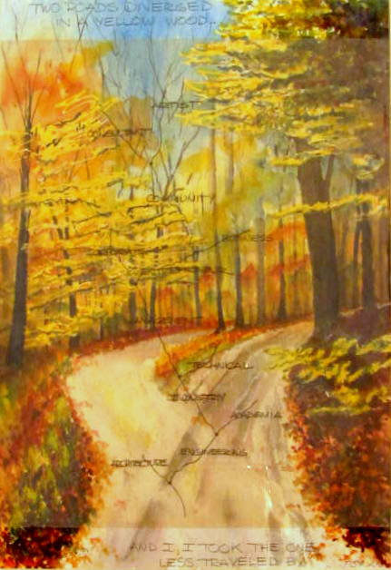 18 x 24 Road Less Traveled – Artist's Life